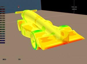 Pressure contours around a F1 car