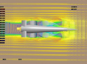 Velocity Vectors around a F1 car
